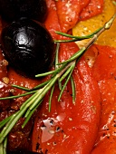 Marinated Sweet Peppers with Olives and Rosemary