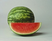 Watermelon Wedge with Whole Watermelon