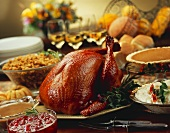 Thanksgiving Turkey with Sides and Desserts