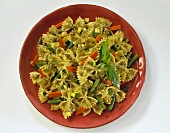 Pesto Farfalle with Beans and Carrots