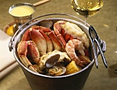 Steamed Seafood Dinner in a Pail