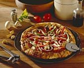 Person Pizza with Veggies