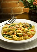 Fettuccini with Chicken and Spinach