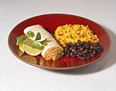 Pork Burrito with Black Beans and Rice