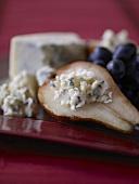 Blue Cheese Stuffed Pear Half
