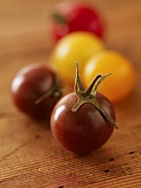 Cherry Tomatoes on Wood