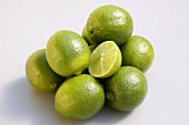 Whole Key Limes with One Half