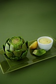 Artichoke with Lemon Dip