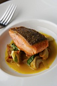 Sea Trout with Lobster Mushrooms