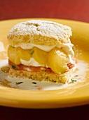 Peach Rhubarb Shortcake