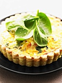 A spinach tart with cheese