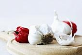 Garlic and lampion chillis