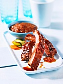 Spare-ribs with sauce