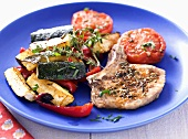 Pork chops with provencal vegetables