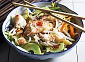 Oriental crab salad