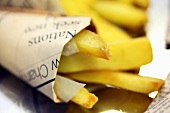 Chips in newspaper