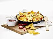 Tortilla chips au gratin