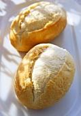 Two baguette rolls