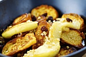 Shredded apple pancakes with raisins (Austrian dessert)
