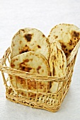 Pita bread in a basket