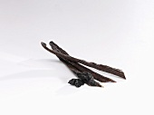 Vanilla pods with vanilla seeds