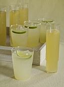 Assorted Glasses of Lemonade