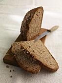 Spiced bread on a chopping board