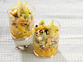 Exotic fruit salad with coconut