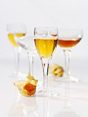 Physalis liqueur and various drinks