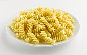 A plate of cooked fusilli