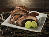Baby Back Ribs with Lime and Barbecue Sauce