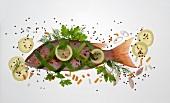 Rose bream: bream wrapped in salmon