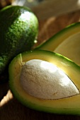 Avocado with pit (close up)