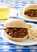 Barbecue Pulled Pork Sandwiches with Cole Slaw