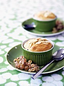 Mincemeat souffle garnished with white currants
