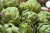 Artichokes on a market stall