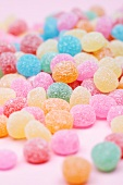 Brightly colored gum drops