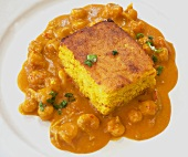 Cornbread Over Crawfish Etouffee