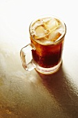 Glass Mug of Root Beer with Ice