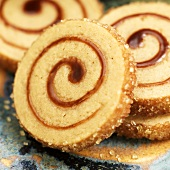 Maple Pinwheel Cookies with Raw Sugar Edges