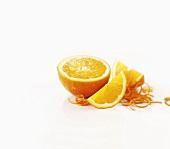 Orange and orange zest