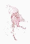 A splash of rose wine