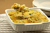 Bowl of Macaroni and Cheese; Fork