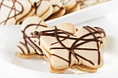 Butterfly Shaped Sugar Cookies with Chocolate Drizzles
