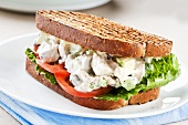 Chicken Salad Sandwich on Grilled Wheat Bread