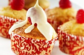 Vanilla Cupcake with Raspberry and Condensed Milk