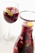 Glass and Pitcher of Sangria
