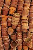 Stacks of Clay Pots