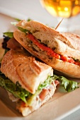 Sandwich Provencal on Ciabatta Bread