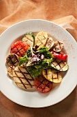 Grilled Vegetable Plate; From Above